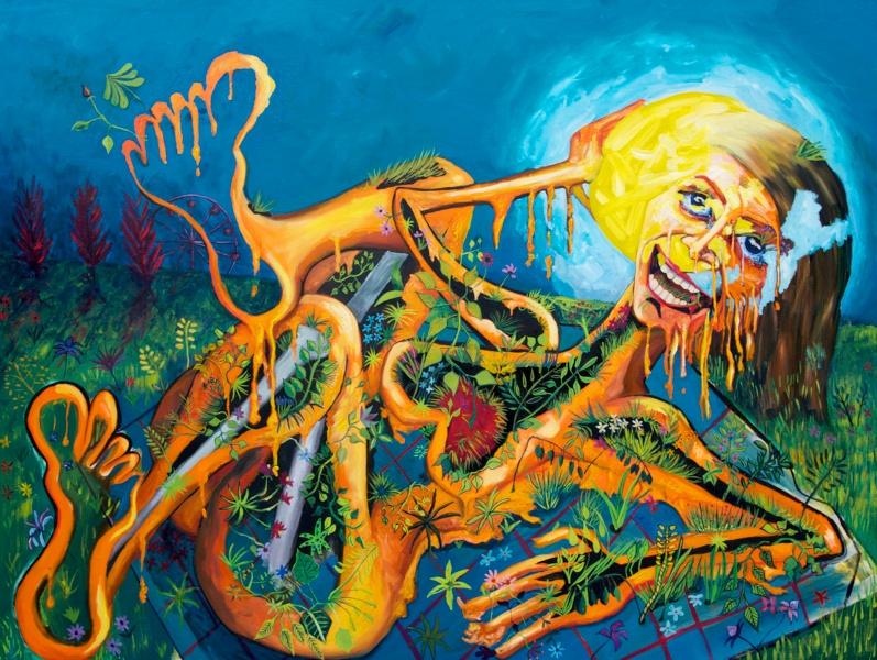 24,445 Suns, oil on canvas, 2010