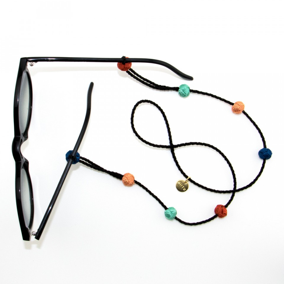 © Hiitu, Sunglass Strap, Black Multi