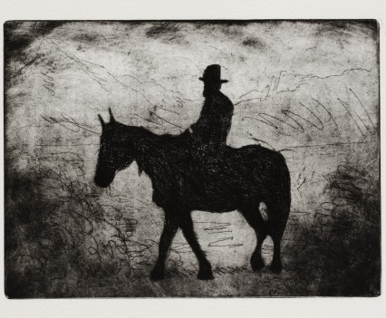 Horse (after Muybridge), etching and aquatint and onotype, 27x37 cm, edition of 10, 2015