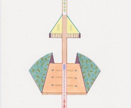 Amba Sayal-Bennett, Molina, 2017. Ink, pro-marker, graphite on paper, 21x14.8cm.Courtesy, Carbon 12. Copyright, the artist