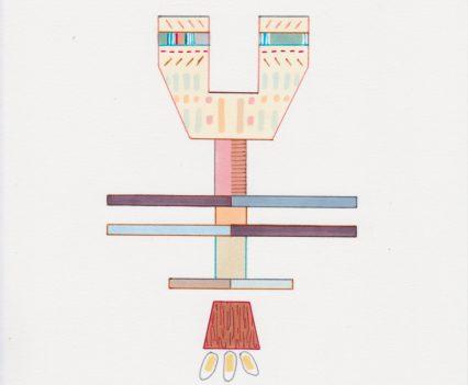 Amba Sayal-Bennett, Nova, 2017. Ink, pro-marker and graphite on paper, 21x14.8cm. Courtesy, Carbon 12. Copyright, the artist