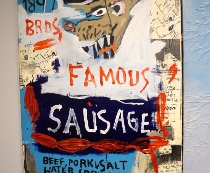 Jean-Michel Basquiat, Brother's Sausage, 1983, photo ©Alexander Moers