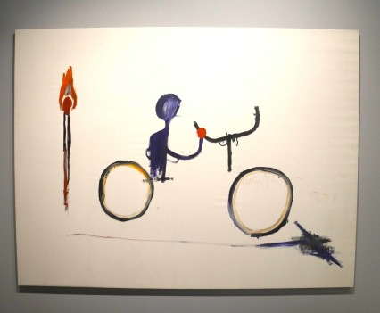 Jean-Michel Basquiat, Untitled (Bicyclist), 1984, photo ©Alexander Moers