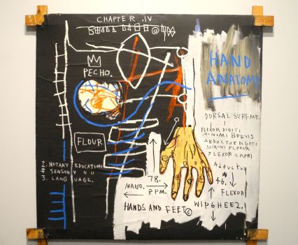 Jean-Michel Basquiat, Untitled (Hand Anatomy) 1982, photo ©Alexander Moers