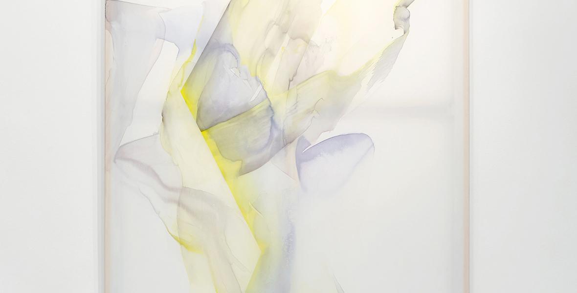© Natascha Schmitten, The Pale, 200 x 150 cm, ink, oil on nylon, 2018