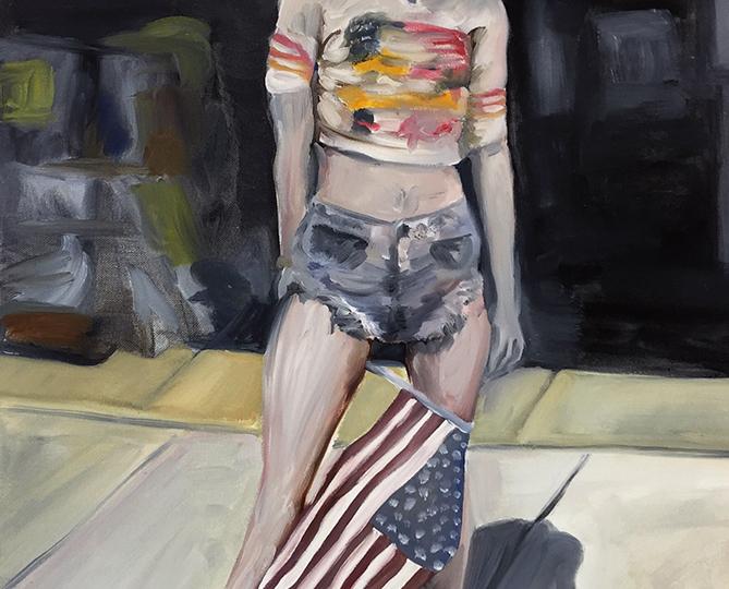 © Charlie Stein, American Flag (Garage Girl), 2018, copyright Charlie Stein