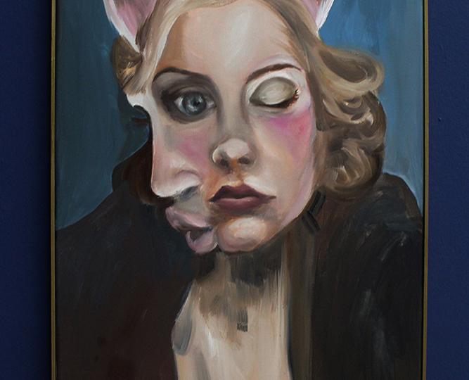 © Charlie Stein, Portrait (With Pink Ears), 2017, copyright Charlie Stein