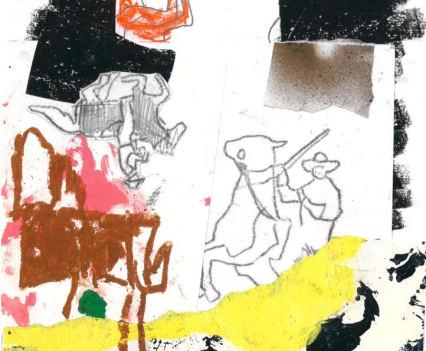 Fergus Polglase, collage A4 Untitled, 2018