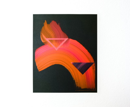 Lisa Denyer Embers 2018 acrylic on sandpaper 28x23cm