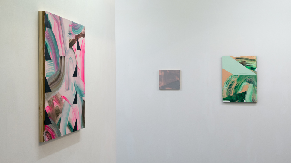 Lisa Denyer Paintings as Objects solo exhibition at PS Mirabel Manchester 2016
