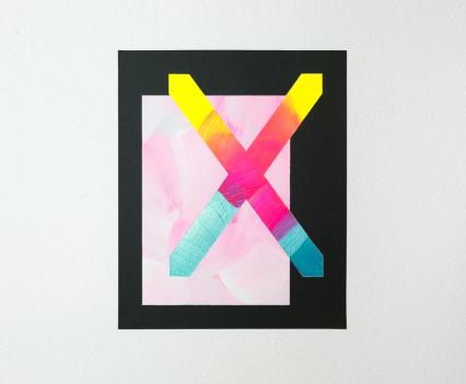 Lisa Denyer Sigil 2018 acrylic and emulsion on sandpaper 28x23cm