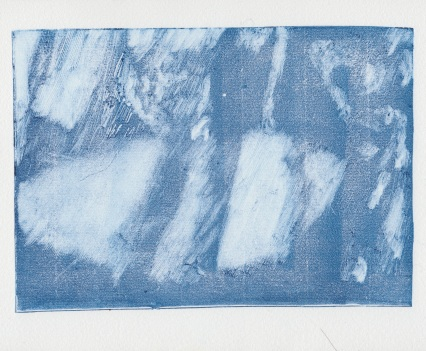 Beached, Monoprint, 14.8 x 21cm, 2018