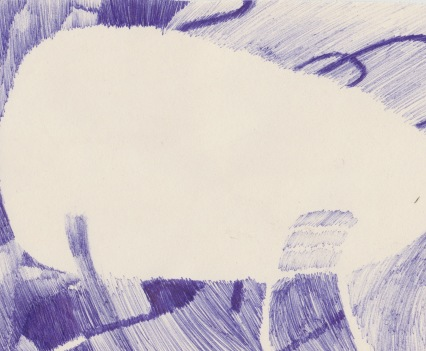 Cross Legs, Biro on Paper, 13 x 21cm, 2018