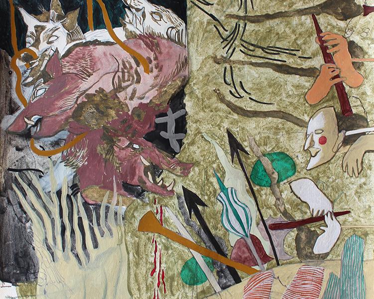© Ella Walker, Imagined hunt scene at Borgo Pignano, 2019, The Artist (all rights reserved)