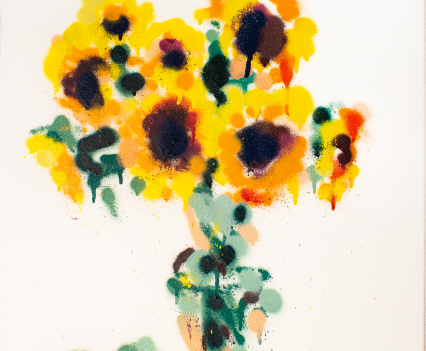 "sunflowers // ""van gogh"" / 2018 / Acrylic/Spray on canvas © Laurentius Sauer"