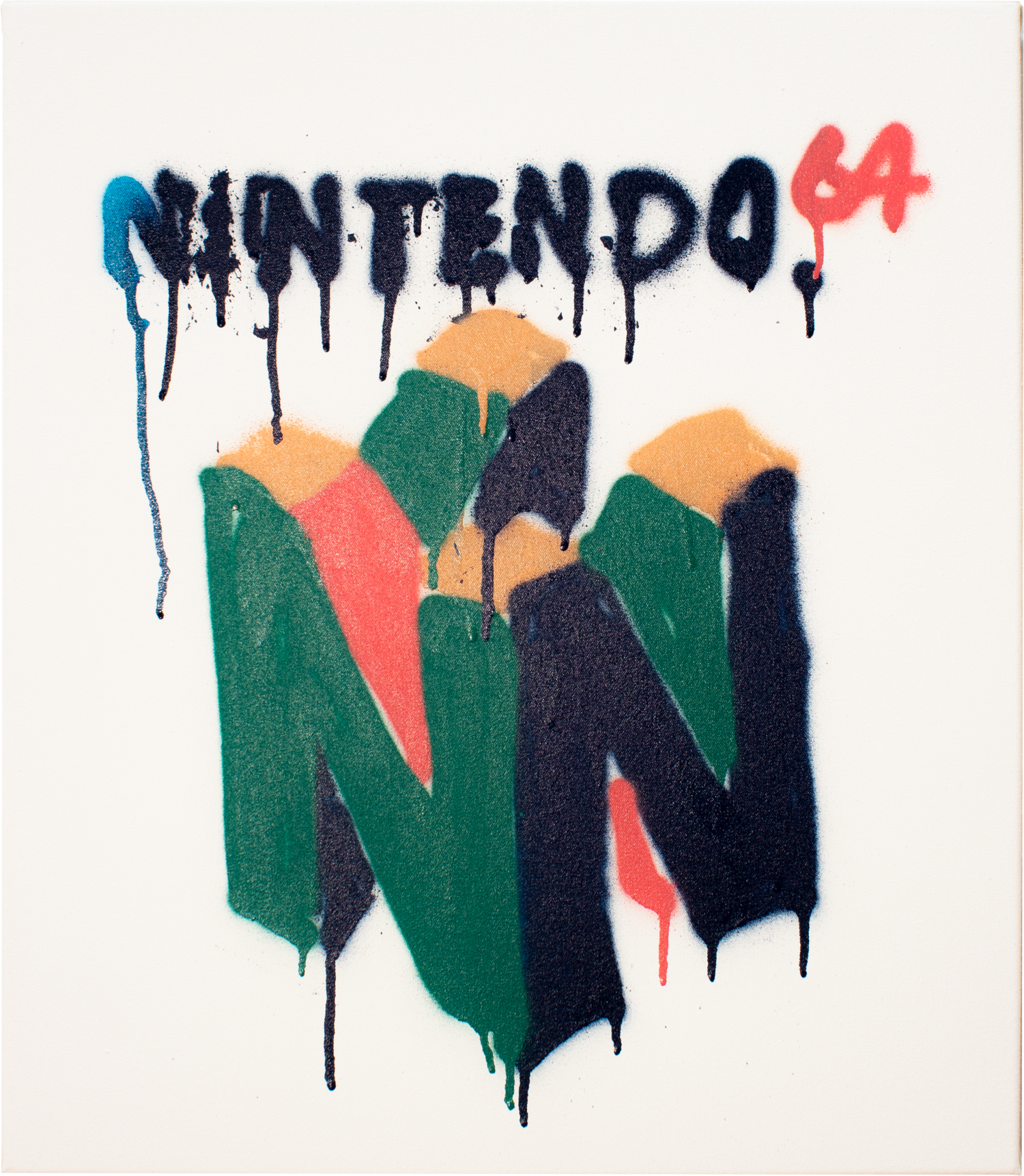 "N64 Logo // ""childhood-dream"" / 2018 / Acrylic/Spray on canvas © Laurentius Sauer"