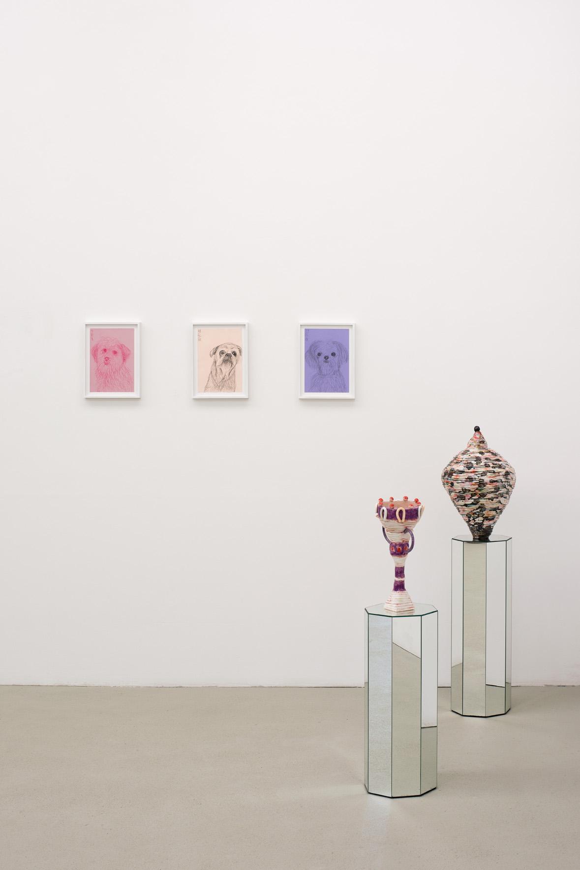 "Grit Hachmeister, ""Ach"" installation view ASPN gallery Leipzig, 2019, Foto: Sophia Kesting"