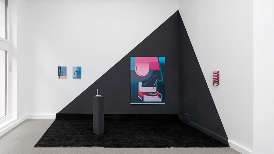 Anna Nero, Fingers in Many Pies installation view Berlin 2020 courtesy Galerie Feldbusch Wiesner Rudolph